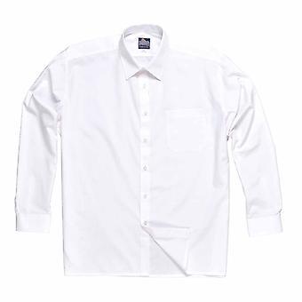 بورتويست--النمط الكلاسيكي موحدة عمال طويلة الأكمام القميص مع الجيب الثدي