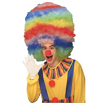 Clown Mega Afro Fro Colorful Rainbow Circus Men Costume Wig