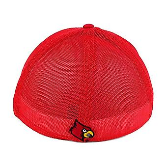 """Louisville Cardinals NCAA """"Circle"""" A-Flex Stretch Fitted Hat"""