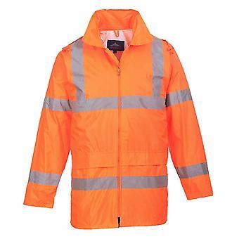 sUw - Hi-Vis sikkerhed arbejdstøj regn vandtæt jakke med hætte