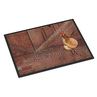 Carolines Treasures  SB3075JMAT Welcome Chicken Indoor or Outdoor Mat 24x36