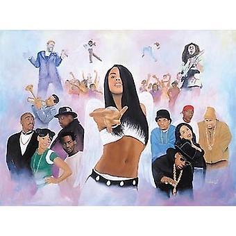 Hip-Hop Heaven (Mini) Poster Print by Kolongi Brathwaite (11 x 9)