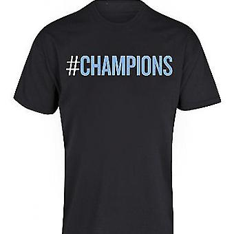 2012 Manchester City Champions T-Shirt (sort)