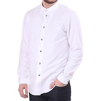 Paul Smith Jeans Red Ear Standard Fit Shirt In Heavy Cotton With St
