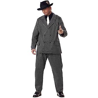 Gangster 30s 60s Al Capone Mob Capone Mobster Gatsby 1920s Mens Costume Plus