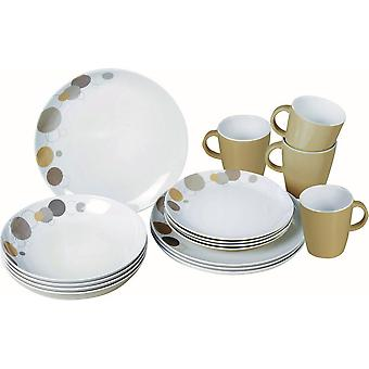Pepita 16 Piece Plates And Mugs Dining Set