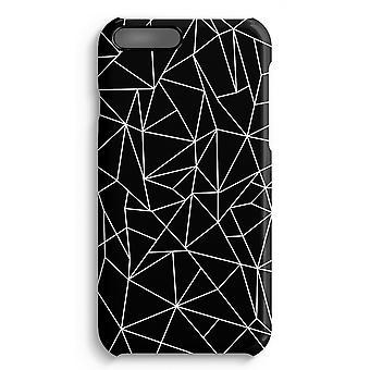 iPhone 7 Plus pełna obudowa głowiczki (błyszcząca) - geometryczne linie białe