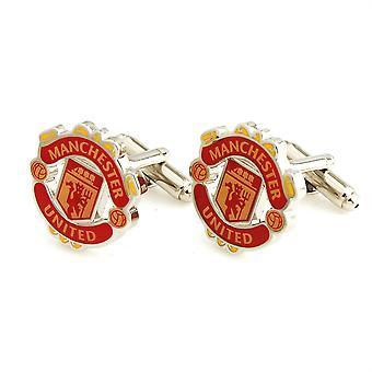 Manchester United fotboll Sport manschettknappar nyhet bröllop födelsedag gåva Man United