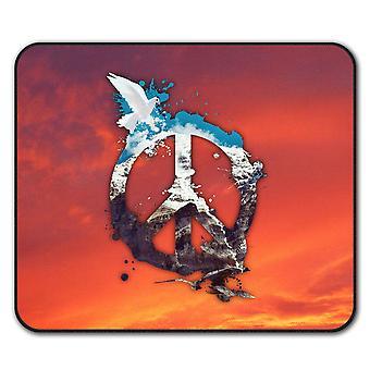Friedens Taube Cool Anti-Rutsch Mauspad Pad 24 x 20 cm | Wellcoda