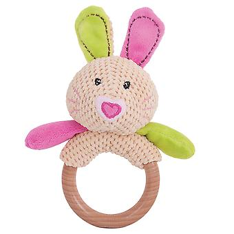 Bigjigs Toys Soft Plush Bella Ring Rattle Teether Early Learning Newborn Sensory