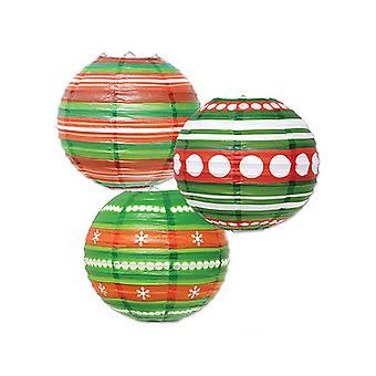 Christmas Ornament Papier Laternen 9½