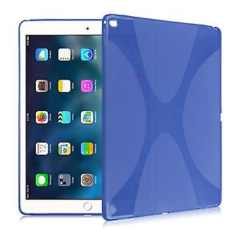 Protective cover silicone X-line series blue case cover for new Apple iPad 9.7 2017 bag