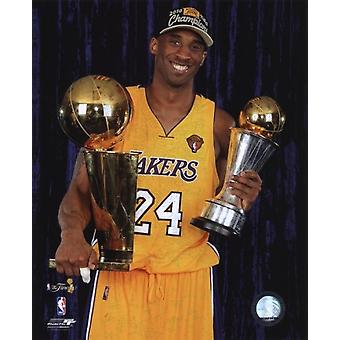 Kobe Bryant with 2010 MVP & Championship Trophies in Studio (#29) Sports Photo (8 x 10)