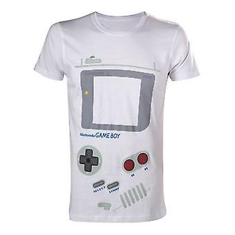 NINTENDO opprinnelige klassiske Gameboy grensesnittet ekstra stor t-skjorte hvit (TS252527NTN-XL)