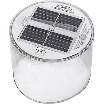 Luz de escritorio solar LED (monocromo) blanco cálido transparente inflable