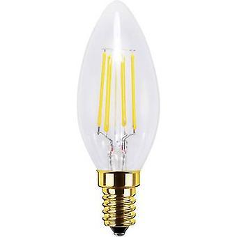 Segula LED (monochrome) EEC A+ (A++ - E) E14 Candle 4 W = 30 W Warm white (Ø x L) 35 mm x 98 mm dimmable, Filament 1 pc(s)
