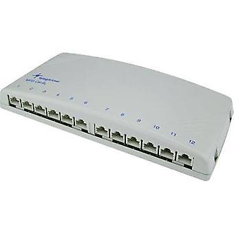 Telegärtner J02022A0052 12 poorten netwerk patch panel CAT 6A 1 U