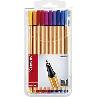 Stabilo 8820 STABILO point 88 Fineliner 20 pcs/pack Yellow, Orange, Red, Dark red, Pink, Violet, Purple, Blue, Light blue, Medium blue, Turquoise blue, Green,