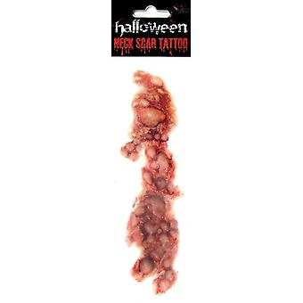 Pus de la herida del tatuaje golpes Halloween horror pus vejiga cuello herida sangre pus