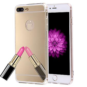 Apple iPhone 8 Plus Handy Hülle Spiegel Mirror Soft-Case Schutz-Cover Gold