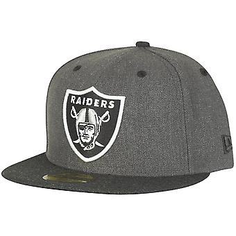 New era 59Fifty Fitted Cap - HEATHER Oakland Raiders graphite