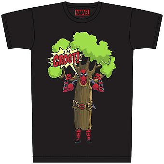 Marvel t-shirt deadpool sono il Groot