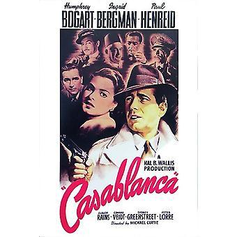 Casablanca poster Humphrey Bogart, Ingrid Bergman