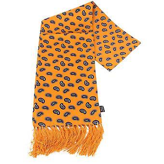 Écharpe en soie de Knightsbridge cravates Paisley - or/marine