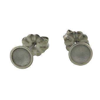 Ti2 Titanium Tiny Dome Stud Earrings - Natural Cream