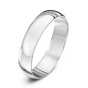 Star Wedding Rings 9ct White Gold Light D Shape 4mm Wedding Ring