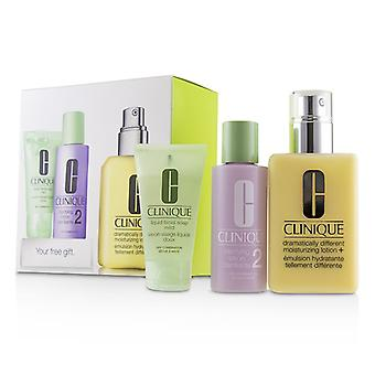 Clinique 3-step Skin Care System (skin Type 2): Ddml+ 200ml + Clarifying Lotion 2 60ml + Liquid Facial Soap Mild 30ml - 3pcs