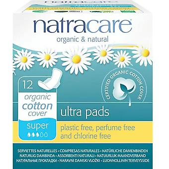 Natracare Super Alas Compresses 12 uds