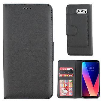 Colorfone LG V30 Wallet Case (BLACK)