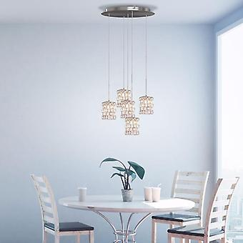 Modern Hanging Cubicus Ceiling Lamp5 Led Pendant Light Chandelier round Canopy