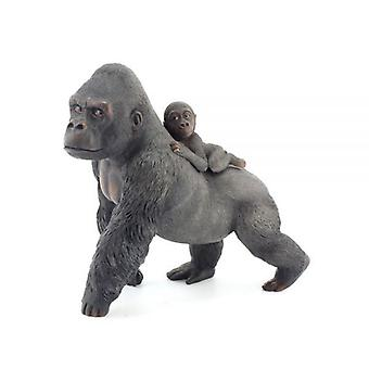 Gorilla Carrying Baby Jungle Art Home Decoration Ornament