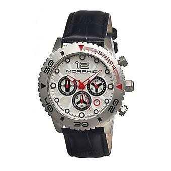Morphic M33 Series Chronograph Men's Watch w/ Date - Silver