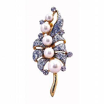 Guld buket af perler Diamond Encrusted på hver ferie bryllup broche