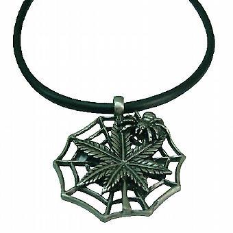 Spiderred pendente nero collana di corda migliore per la festa di Halloween