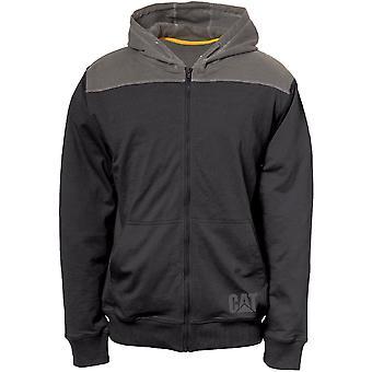 Caterpillar Mens Contrast Yoke Light Hooded Sweater Jacket