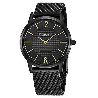 Stuhrling Original Classic Somerset Elite wrist watch, analog Display, stainless steel band, black