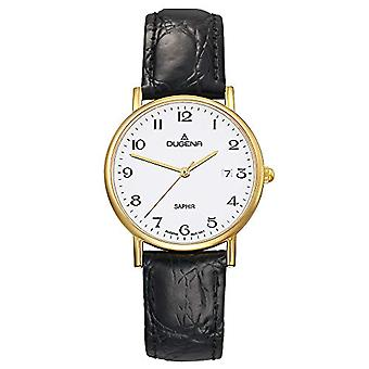 Dugena 2170996-wrist watch, man, skin, colour: black