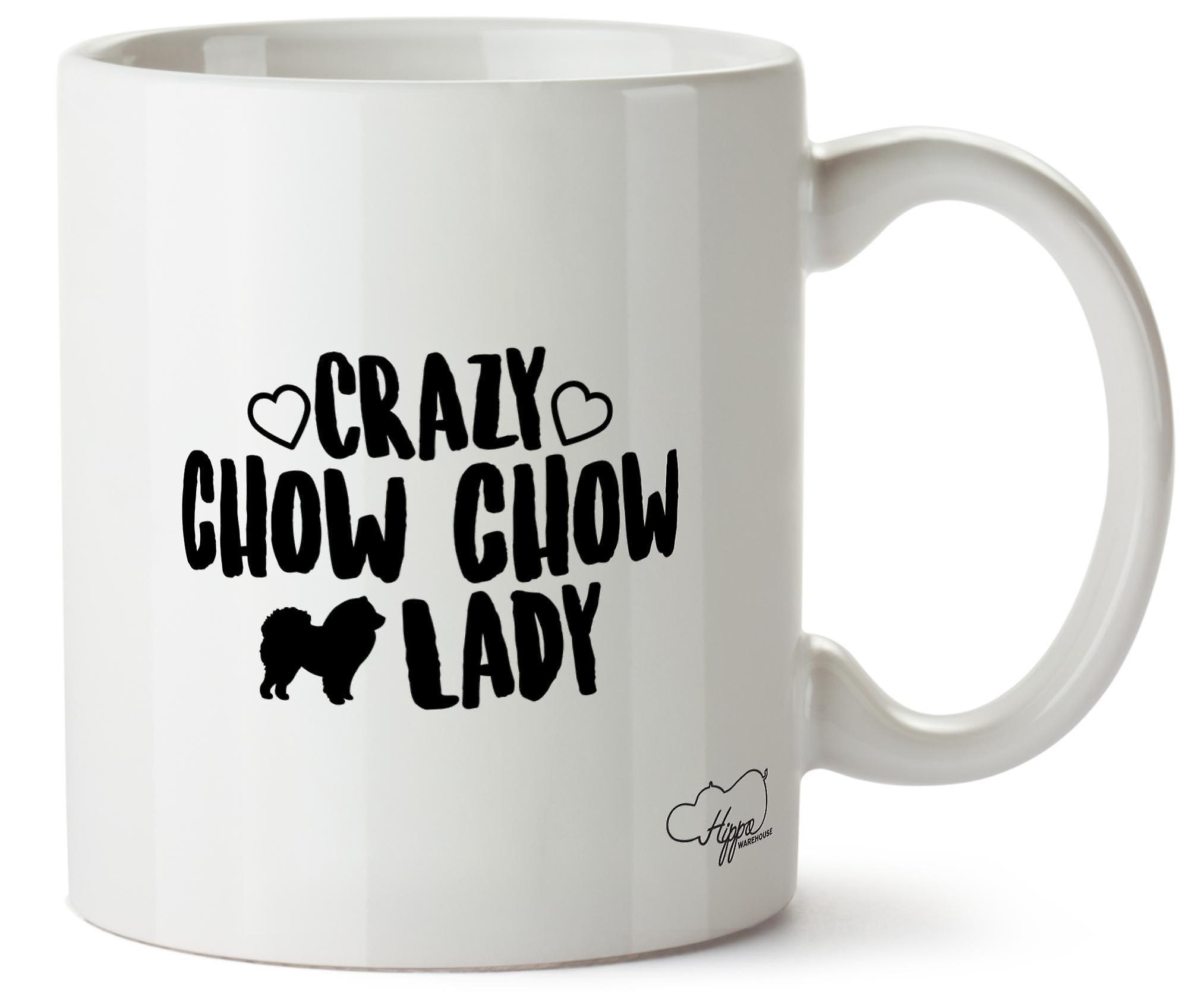 Чау-чау Hippowarehouse Crazy леди собака напечатаны Кубка керамическая кружка 10oz