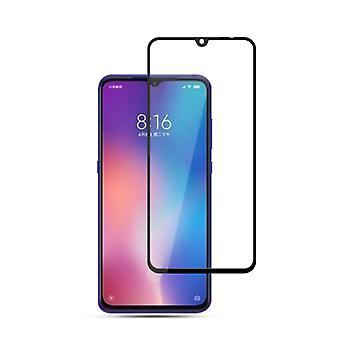 Für Xiaomi Mi 9 9D Premium 0,3 mm H9 Hart Glas Schwarz Folie Schutz Hülle Neu
