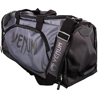 Venum Trainer Lite Sport MMA Boxing Duffle Gym Bag - Charcoal Gray/Black