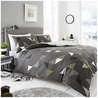 Marco triangel duntäcke Quilt Cover vändbar sängkläder med örngott
