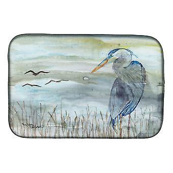 Carolines Treasures  SC2007DDM Blue Heron Watercolor Dish Drying Mat
