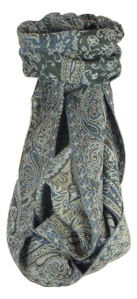 Muffler Scarf 1773 in Fine Pashmina Wool Heritage Range by Pashmina & Silk