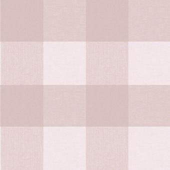 Country Check Rose Pink Tartan Plaid Wallpaper Silver Glitter Shimmer Crown