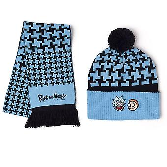 Rick i Morty Beanie & Szalik Giftset One Size Blue/Black (GS201170RMT)