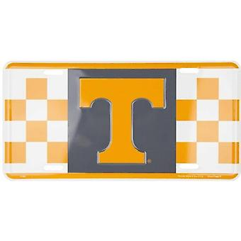 Tennessee Volunteers NCAA Checkered License Plate